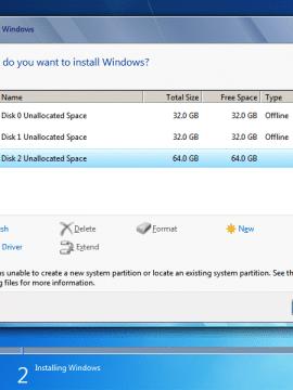 שגיאת התקנת מערכת הפעלה Setup was unable to create a new system partition or locate an existing system partition